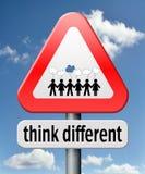 Pensi differente Fotografie Stock