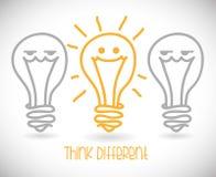 Pensi differente Fotografia Stock