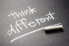Pensi differente Fotografia Stock Libera da Diritti