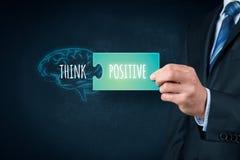 Pensi il concetto positivo Immagini Stock