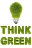 Pensi il concetto verde Fotografia Stock Libera da Diritti