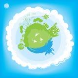 Pensi il concetto verde di ecologia Immagini Stock Libere da Diritti
