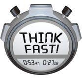 Pensi il concorso veloce di risposta di quiz del cronometro del temporizzatore Immagini Stock Libere da Diritti