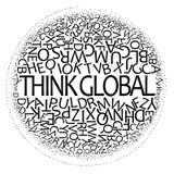 Pensi il disegno globale Fotografia Stock Libera da Diritti