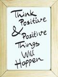 Pensi il manifesto positivo fotografie stock