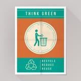 Pensi il manifesto verde Fotografia Stock Libera da Diritti