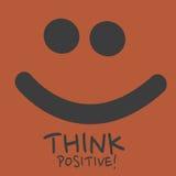 Pensi il positivo Fotografie Stock Libere da Diritti