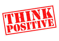 Pensi il positivo Immagini Stock