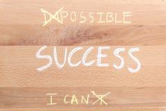 Pensi il positivo per il concetto di successo Fotografia Stock