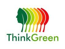 Pensi il verde e l'energia Fotografia Stock