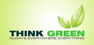 Pensi la scheda verde Fotografie Stock