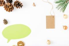 Pensieri dell'icona, albero di Natale, prezzo da pagare, coni, arancia, Christm Fotografia Stock