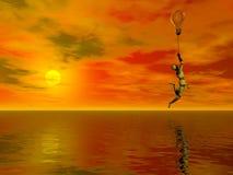 Pensieri di galleggiamento Fotografia Stock
