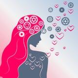 Pensieri e sensibilità illustrazione vettoriale
