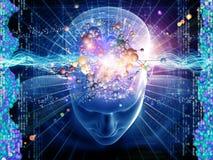 Pensieri molecolari Fotografia Stock Libera da Diritti