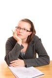 Pensiero adolescente dell'allievo Fotografia Stock Libera da Diritti