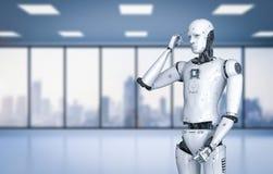 Pensiero del robot di Android royalty illustrazione gratis