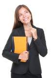 Pensiero dell'agente immobiliare? decisione economica Fotografie Stock Libere da Diritti