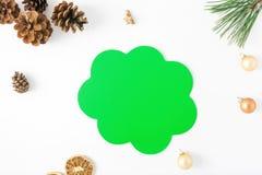 Pensiero dell'icona, albero di Natale del ramo, pigna, arancia, Christma Fotografie Stock