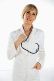 Pensiero dell'infermiera Immagini Stock Libere da Diritti