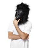 Pensiero dell'uomo della gorilla immagine stock libera da diritti