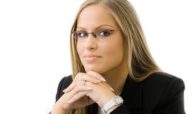 Pensiero della donna di affari Fotografie Stock