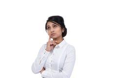 Pensiero della donna di affari Fotografia Stock