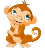 Pensiero della scimmia Immagine Stock Libera da Diritti