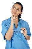 Pensiero della signora medico Fotografia Stock Libera da Diritti