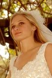 Pensiero della sposa Fotografie Stock Libere da Diritti