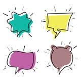 Pensiero e discorso disegnati a mano bubbles02 Immagine Stock Libera da Diritti