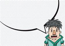 Pensiero e la gente della gente che parlano con i fumetti di dialogo Fotografia Stock Libera da Diritti