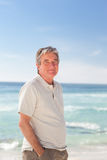 Pensif man on the beach Royalty Free Stock Photo