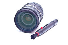 Pensil and lens Stock Photography