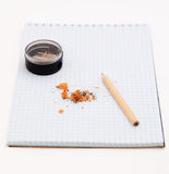 Pensil on the notebook Stock Images