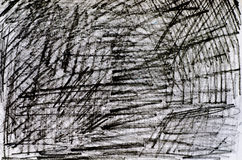 Pensil scribbles background Stock Images
