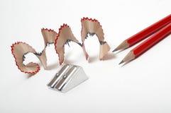 pensils的一sharpner 免版税库存照片