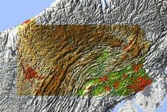 Pensilvânia, mapa de relevo Ilustração do Vetor