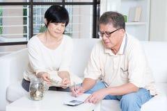 Pensioen, gepensioneerde, die concept bewaren Stock Afbeelding