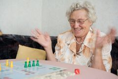 pensionär Arkivfoto