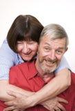 pensionär för 2 par arkivfoto