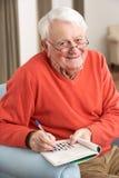 pensionär för home man för stol avslappnande Royaltyfri Fotografi