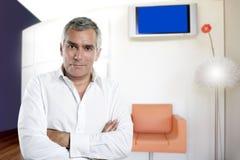 pensionär för kontor för inre man för affärsdesign modern Royaltyfri Foto