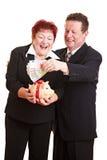 pensionär för sparande för pareuropengar Royaltyfria Foton