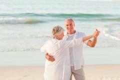 pensionär för strandpardans royaltyfria foton