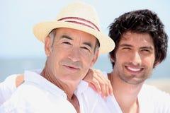 Pensionär och junior Royaltyfri Fotografi