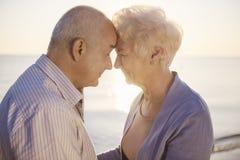 Pensionären kopplar ihop arkivfoto