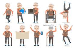 Pensionären poserar Arkivbild