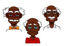 Pensionärer och gamala män för tecknad film glade Arkivfoto