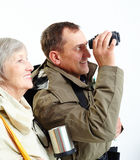 Pensionärer på tur Arkivbilder
